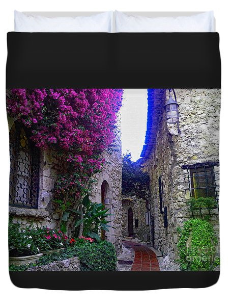 Magical Beauty In Eze France Duvet Cover