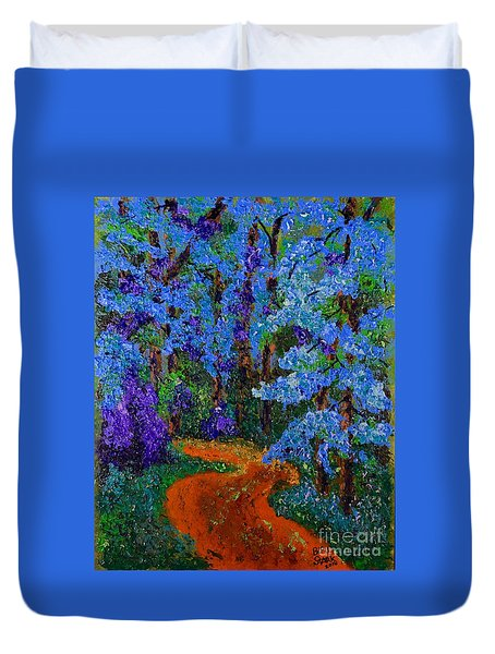 Magical Blue Forest Duvet Cover