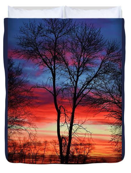 Magical Colors In The Sky Duvet Cover by Dacia Doroff
