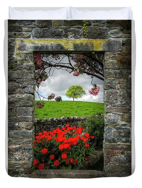 Duvet Cover featuring the photograph Magical County Clare Countryside by James Truett