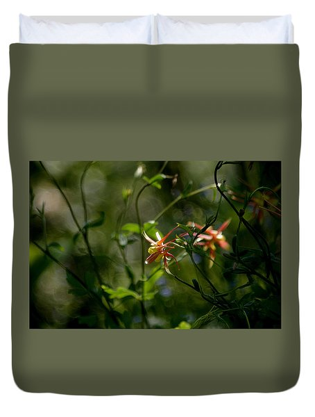 Duvet Cover featuring the photograph Magical Forest by Living Color Photography Lorraine Lynch