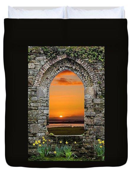 Duvet Cover featuring the photograph Magical Irish Spring Sunrise by James Truett