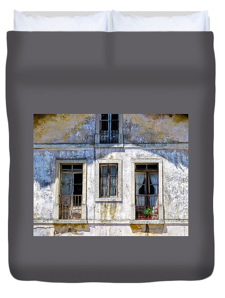 Magical Light On Sintra Windows Duvet Cover by Marion McCristall
