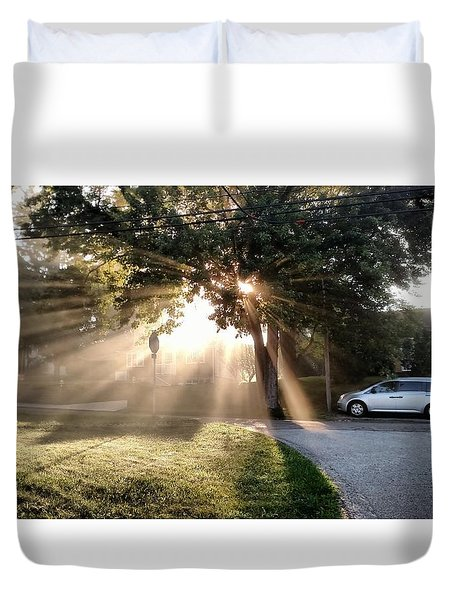 Duvet Cover featuring the painting Magical Morning by James Guentner