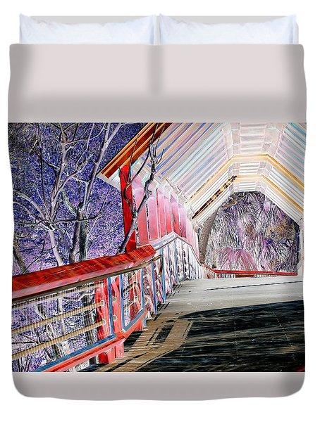 Magical Mystery Bridge Duvet Cover