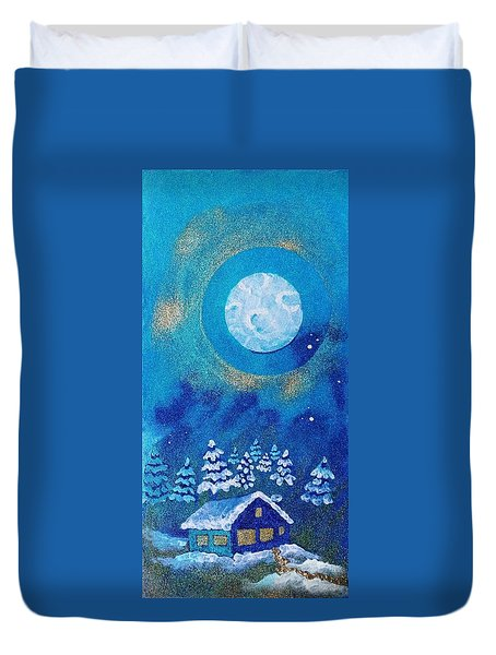 Magical Night At The Cabin Duvet Cover
