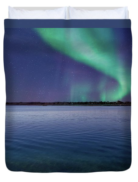 Magical Night By The Seashore Duvet Cover