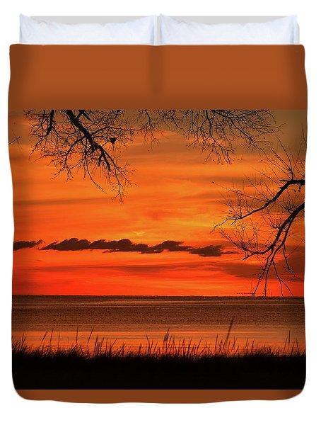 Magical Orange Sunset Sky Duvet Cover