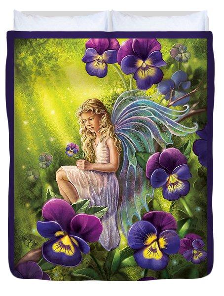 Magical Pansies Duvet Cover