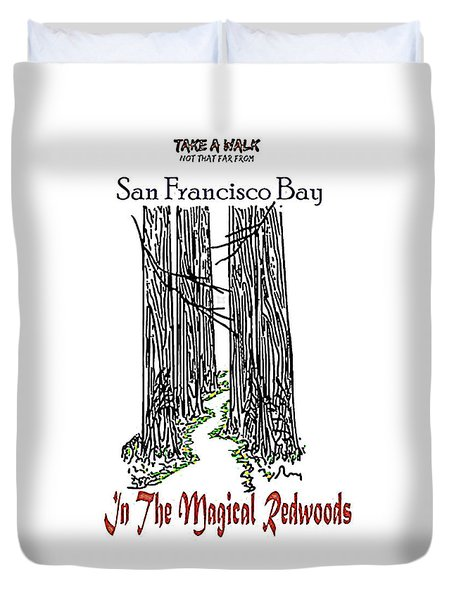 Magical Redwoods  Duvet Cover
