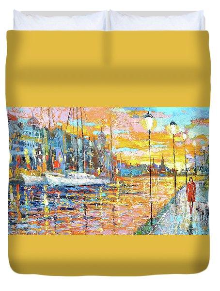Magical Sunset Duvet Cover by Dmitry Spiros
