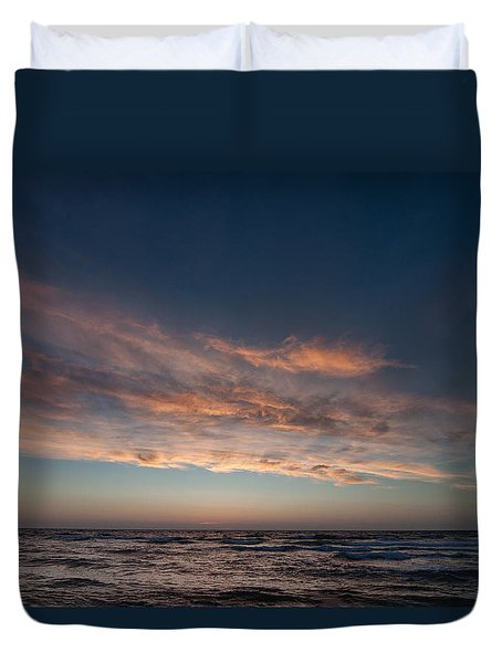 Duvet Cover featuring the photograph Magical Sunset by Laura Melis