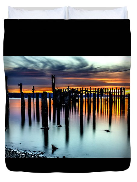 Magical Sunset Titlow Beach Tacoma Wa Duvet Cover