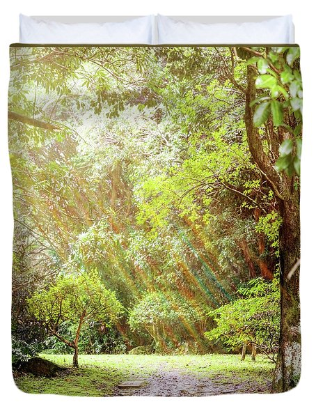 Duvet Cover featuring the photograph Magical Tulgey Wood by Cindy Garber Iverson