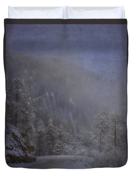 Duvet Cover featuring the photograph Magical Winter Day by Ellen Heaverlo