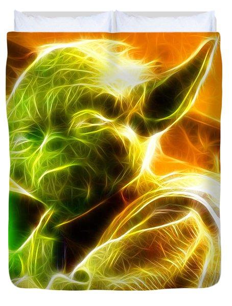 Magical Yoda Duvet Cover by Paul Van Scott