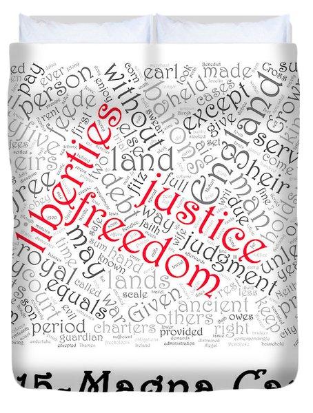 Magna Carta Word Cloud 1 Duvet Cover