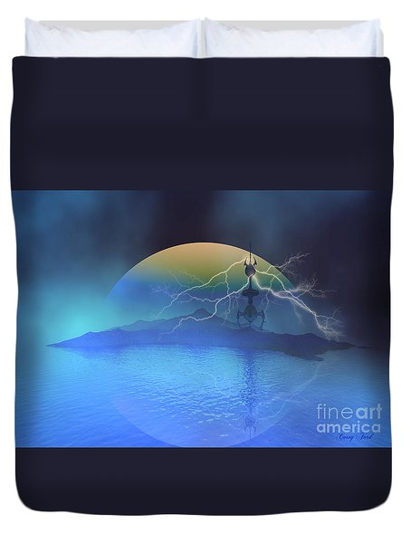 Magnetic Flux Duvet Cover by Corey Ford