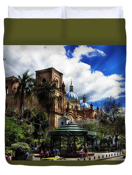 Magnificent Center Of Cuenca, Ecuador IIi Duvet Cover by Al Bourassa