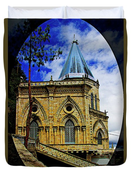 Duvet Cover featuring the photograph Magnificent Church Of Biblian by Al Bourassa