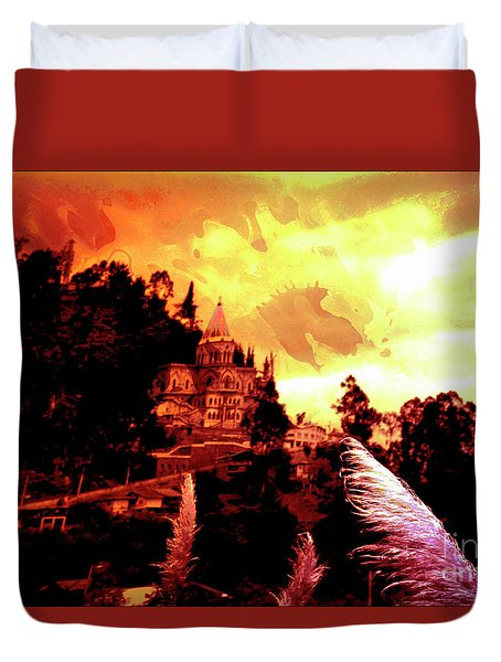 Duvet Cover featuring the photograph Magnificent Church Of Biblian IIi by Al Bourassa