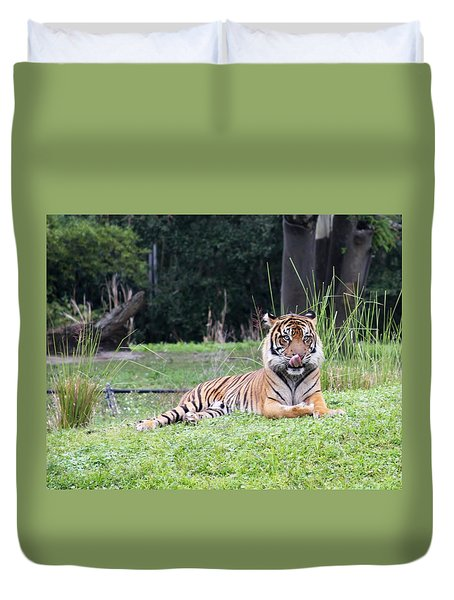 Duvet Cover featuring the photograph Magnificent Creature by Vadim Levin