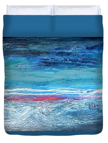 Magnificent Morning Abstract Seascape Duvet Cover