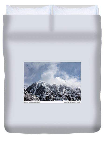 Magnificent Mountains In Telluride In Colorado Duvet Cover by Carol M Highsmith