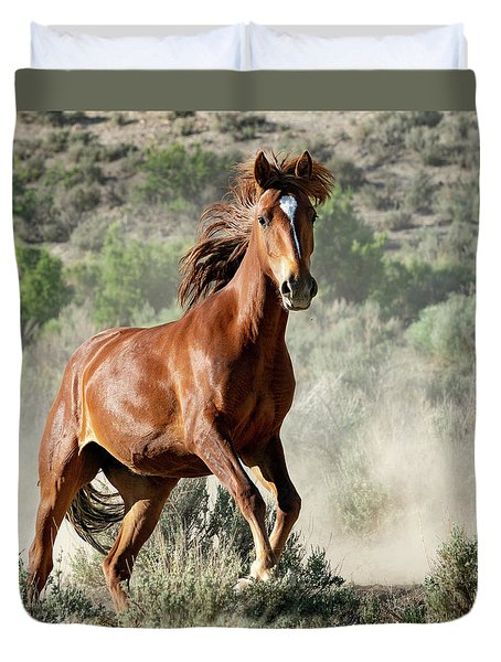 Magnificent Mustang Wildness Duvet Cover