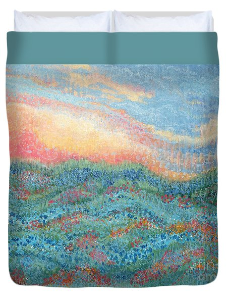 Magnificent Sunset Duvet Cover by Holly Carmichael