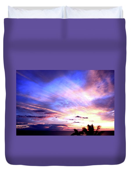 Magnificent Sunset Duvet Cover by Karen Nicholson
