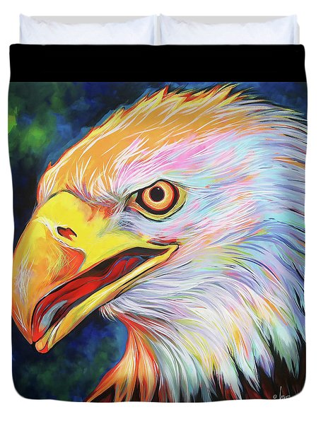 Duvet Cover featuring the painting Magnifico by Angela Treat Lyon