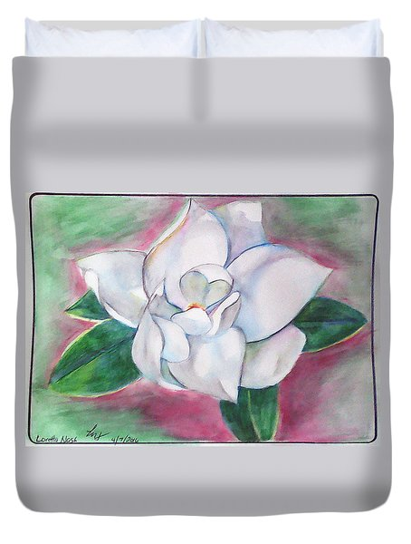 Magnolia 2 Duvet Cover by Loretta Nash