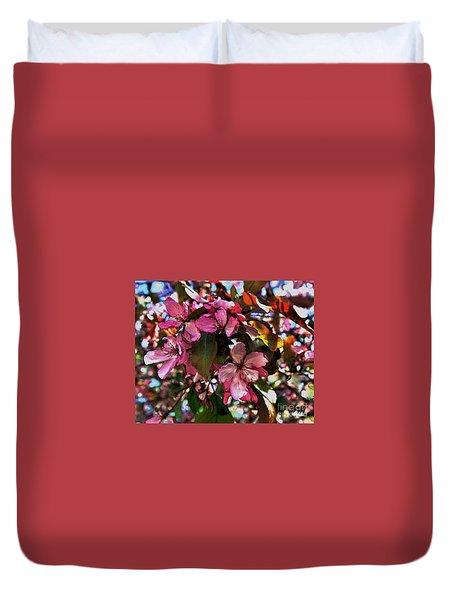Magnolia Abstract Duvet Cover by Marsha Heiken