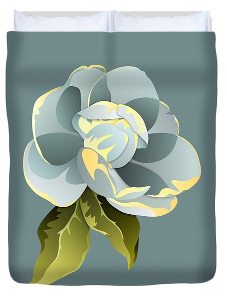 Duvet Cover featuring the digital art Magnolia Blossom Graphic by MM Anderson