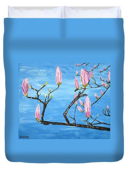 Magnolia Blossom Duvet Cover by Valerie Ornstein