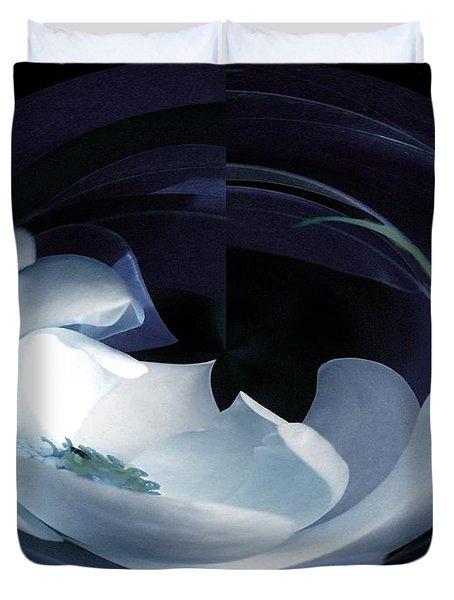 Magnolia Blues Duvet Cover