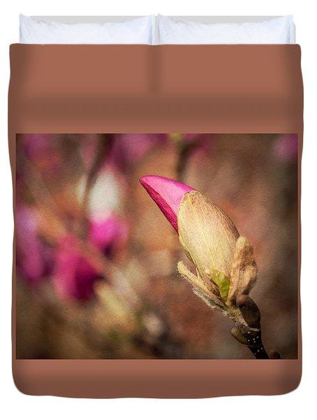 Magnolia Bud Artified Duvet Cover