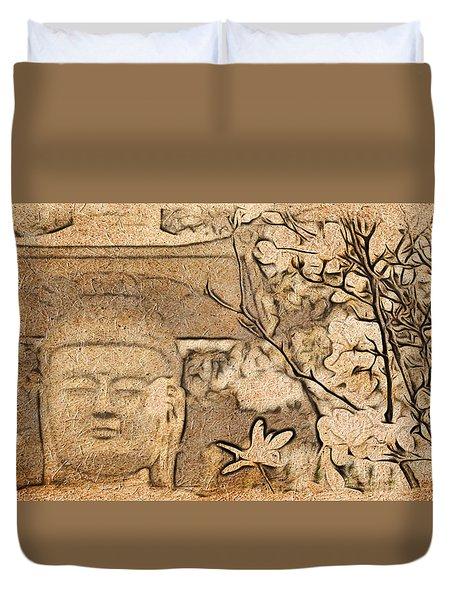 Magnolia Buddha Duvet Cover