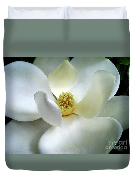 Duvet Cover featuring the photograph Magnolia Elegance by Patricia L Davidson