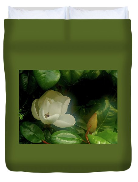 Magnolia Duvet Cover by Evelyn Tambour
