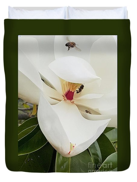 Magnolia Fans Duvet Cover by Jasna Gopic