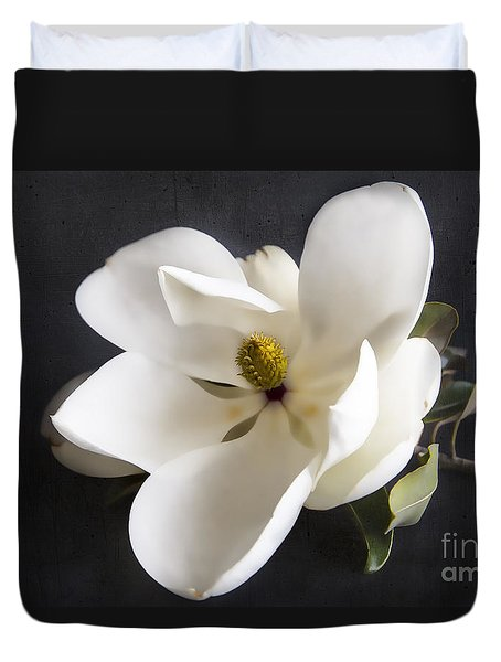 Duvet Cover featuring the photograph Magnolia Flower by Elena Nosyreva