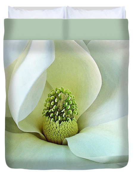Duvet Cover featuring the photograph Magnolia Grandiflora 3 by Deborah Smith