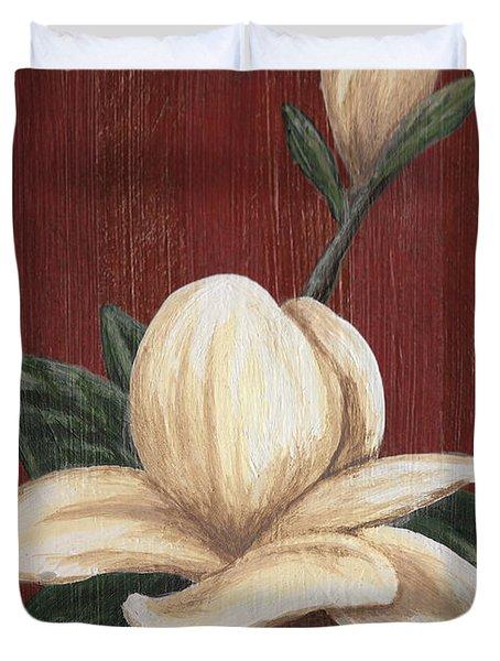 Magnolia I Duvet Cover