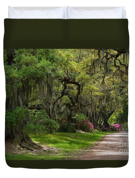 Magnolia Plantation And Gardens Duvet Cover by Kathy Baccari