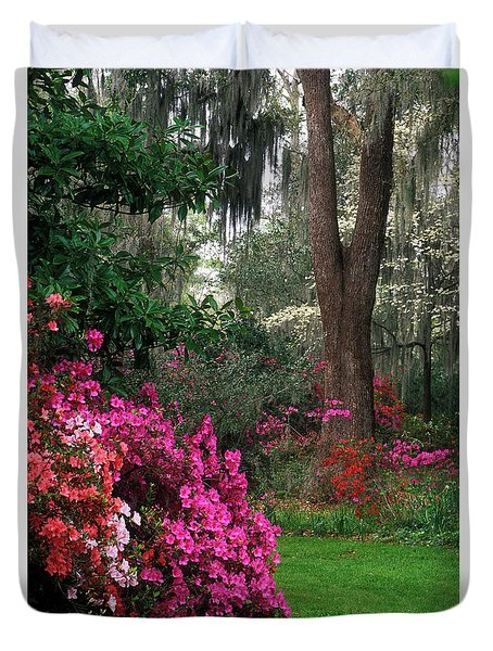 Duvet Cover featuring the photograph Magnolia Plantation - Fs000148a by Daniel Dempster