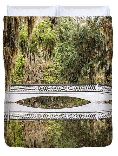 Magnolia Plantation Gardens Bridge Duvet Cover