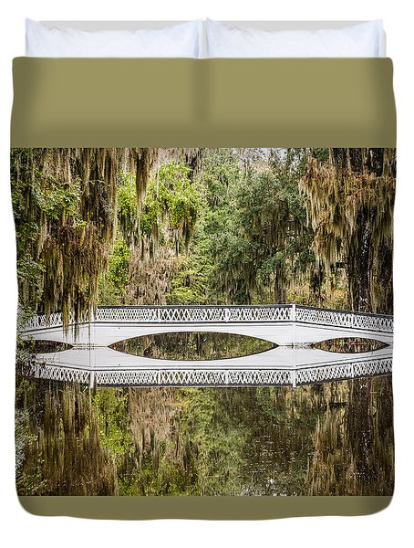 Magnolia Plantation Gardens Bridge Duvet Cover