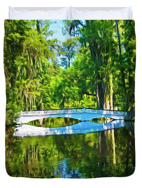 Magnolia Plantation South Carolina Duvet Cover